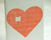 Letterpress Valentine card - You Complete Me