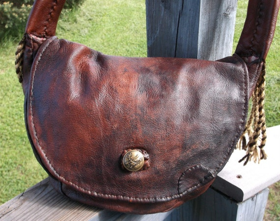 D Shaped Mountain Man Possibles Bag Distressed And By Misstudy