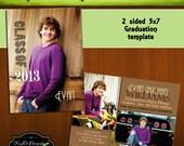 INSTANT Valedictorian 5x7 Senior Graduation Announcement Templates/PSD files