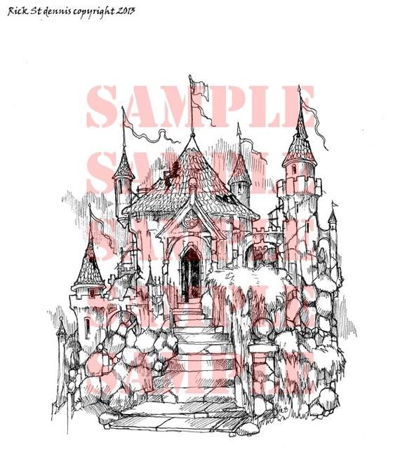 Morgana's Castle Scene Digi