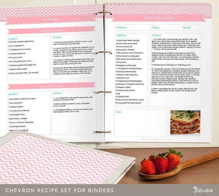 DIY Recipe Binder Printable And Customizable Recipe By Bizuza
