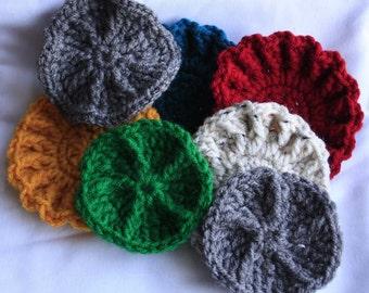 Crochet Dish Scrubbies, set of 4
