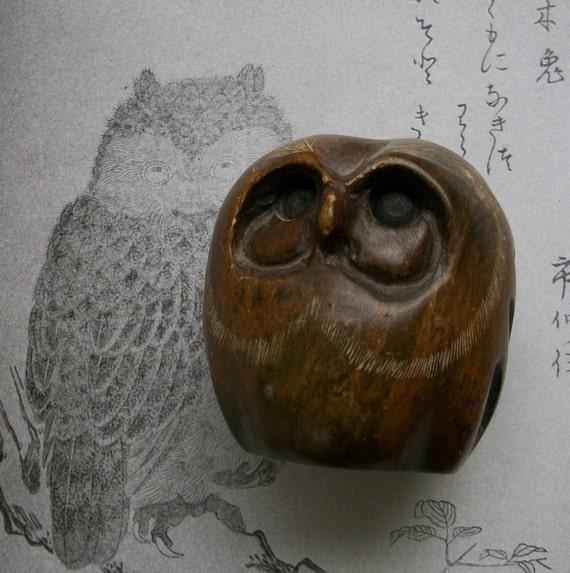 Carved soapstone owl glenn heath by glassing on etsy