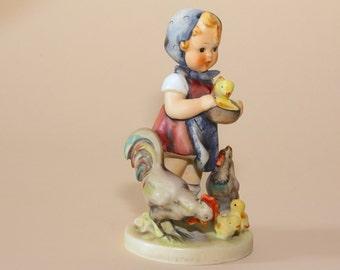 "Hummel Figurine - Feeding Time - 199  TMK3 - 5-3/4"" LARGE SIZE"