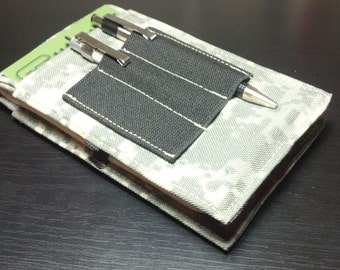 "Tactical Investigator I, Field Notebook Cover (in Digital Camo) with Black Elastic Pen Holder - Size 6"" X 3 5/8"""