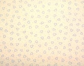 Moda's More Basically Baby Flannel (Blue Hearts) 1 yard