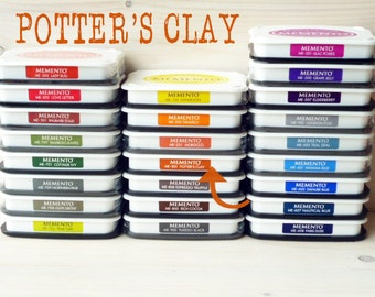 Large MEMENTO  raised dye ink pad  Potters Clay