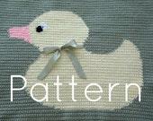 PATTERN Yellow Ducky Baby Blanket Crochet Pattern Instant Download