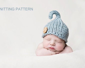 KNITTING PATTERN Lil' Sprout Hat - newborn, baby, instant download