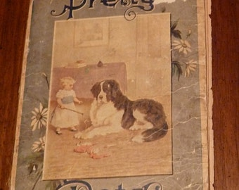 "Antique Children's Book - ""Pretty Pets"""