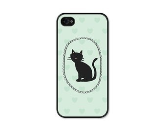 Cat iPhone 6 Case - Cat iPhone Case - Cat iPhone 5 Case Mint Green iPhone Case Samsung Galaxy S6 Case Cat iPhone 5s Case Cat iPhone 4 Case