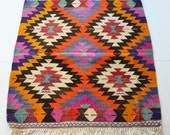 NO SALE / VINTAGE Turkish Kilim Rug Carpet - handwoven kilim rug - antique kilim rug - decorative kilim - natural wool