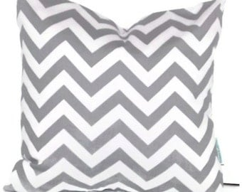 "Premier Prints Zig Zag in Storm Gray and White Chevron Pillow Cover  18"" X 18""   Throw Pillow, Cushion Cover, Home Decor"