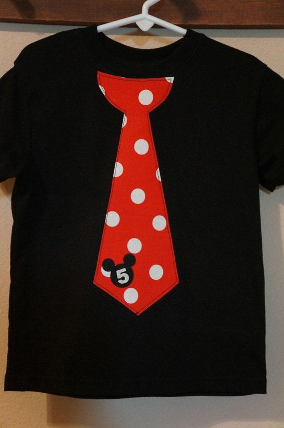 Mickey Mouse Tie Shirt Disney World Disneyland