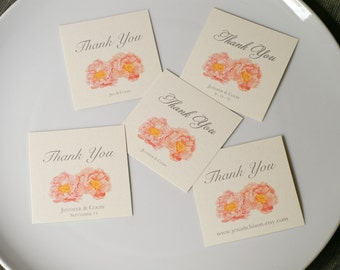 Peony - Wedding Tags - Weddings - events - Parties - paper goods - decoration