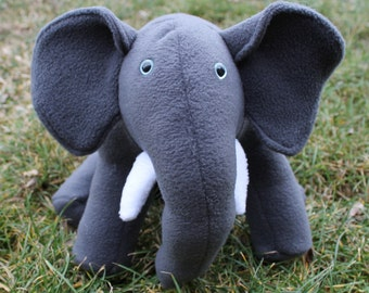 Sitting Stuffed Elephant
