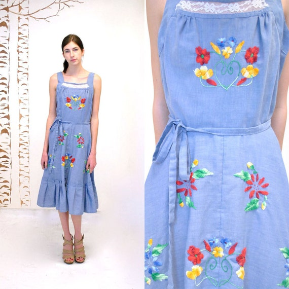 Wrap Dress  //  Embroidered Dress  //  CHAMBRAY HEART