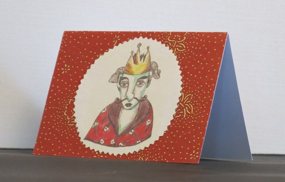 King illustrated card
