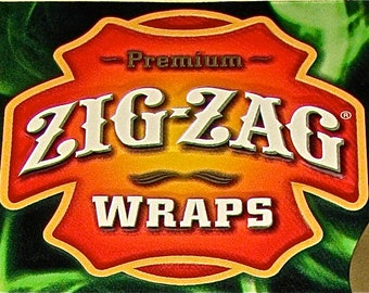 Zig Zag Tobacco Sign Embossed Tin / Metal / Collectible / Advertisement II