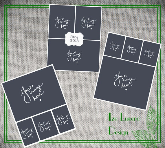16X20in poster / Blog/ Storyboard / Collage PSD templates Set1