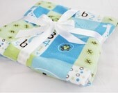 Baby Boy Flannel Baby Blanket - single thickness blanket