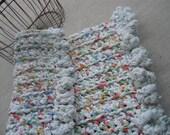 Rag Rug Crochet Cottage Farmhouse French Chic Ruffle Edge Handmade Home Decor by AMarigoldLife