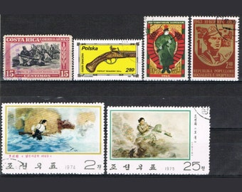 34  Postage Stamps - Ammunition - Military - War - Combat