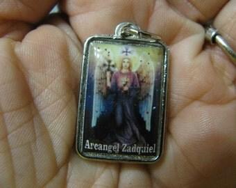 Silver RARE Archangel ZADKIEL Medal AngeL of FORGIVENESS Healer of Broken Heart pendant amulet for necklace, bracelet