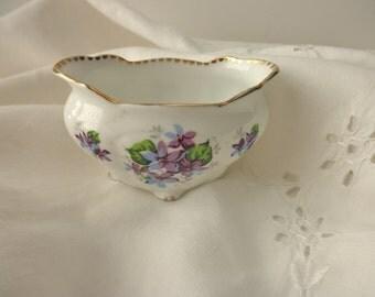 Vintage Royal Stafford Sweet Violets bowl  - Made in England, floral, sugar