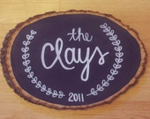 Custom Name Wooden Plaque