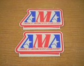 Vintage 1970's Motorcycle Stickers Decals AMA HARLEY Indian Knucklehead American Motorcycle Association-Vintage Motocross