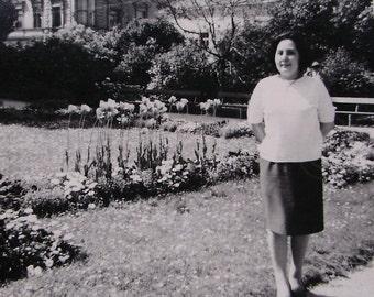 1960's Photograph - Woman in a Public Garden