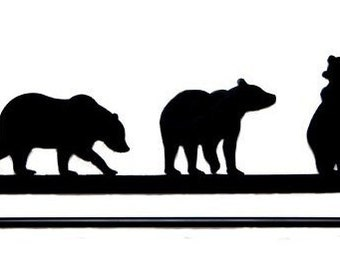 Metal Art Bears quilt hanger