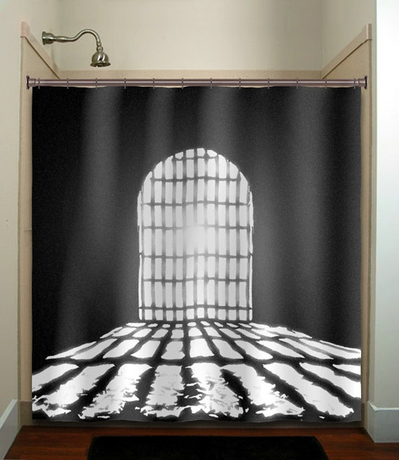 dungeon cell castle door shower curtain fabric extra long