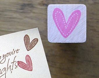 Stitch Heart Stamp (0.75 x 0.75in)