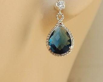 Sapphire Bridal Earrings