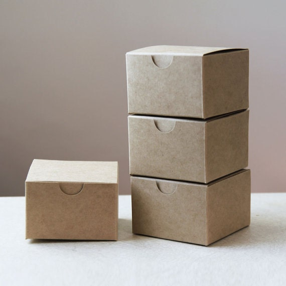 Kraft Natural Gift Box 3x3x2 inches  ( 3 in x 3 in x 2 in )  -  Lot of 200