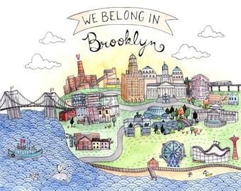 We Belong in Brooklyn Print 5x7