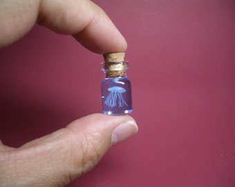 A tiny jellyfish in a tiny bottle L