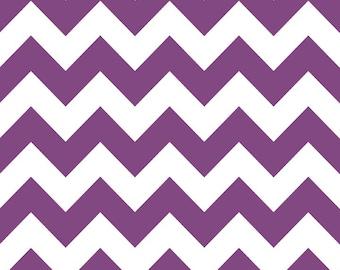 SALE, Chevron in Purple by Riley Blake Fabrics, 1 Yard
