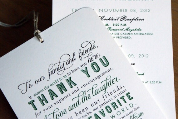 Wedding Gift Etiquette Out Of Town Guests : Welcome / Itinerary Hang Tag - Out of Town Guest / Destination Wedding ...