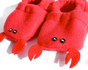 Lobster Baby Booties