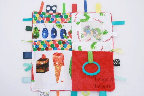 ready to ship - Very Hungry Caterpillar- Sensory Square
