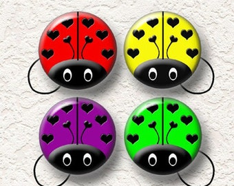 Your Choice Of Ponytail Holders Set of 4 Of Colorful Ladybug Prints Buy 3 Get 1 Free 007PT