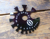 Gauge Measuring Tool for Stone Wood Plugs and Earrings Body Jewelry Wheel