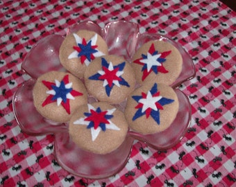 Felt Food Patriotic Cookies, set of three