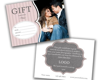 INSTANT DOWNLOAD -  Photography Gift Certificate PSD Template - 0773