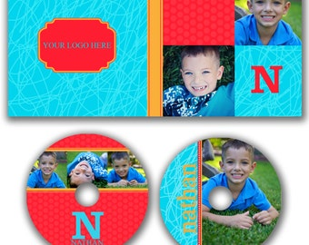 INSTANT DOWNLOAD -  Dvd Label and Dvd Case Photoshop template - W0511