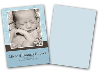 INSTANT DOWNLOAD - Birth announcement photo card template, 5X7 card - 0308