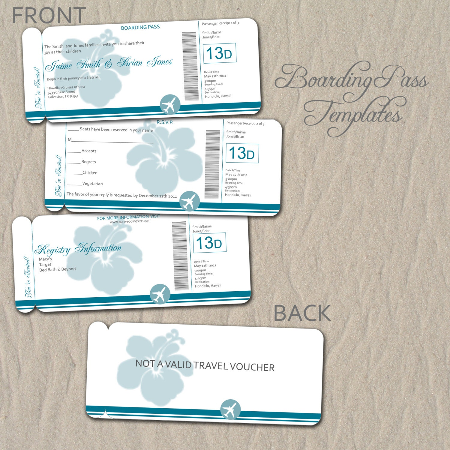 0714 Boarding Pass Destination Wedding By Rememberwhendesign